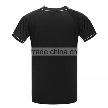 Custom Men's Mesh Dry Fit Polyester Button- Down Plain Baseball Jersey Shirt with Your Own Logo Design