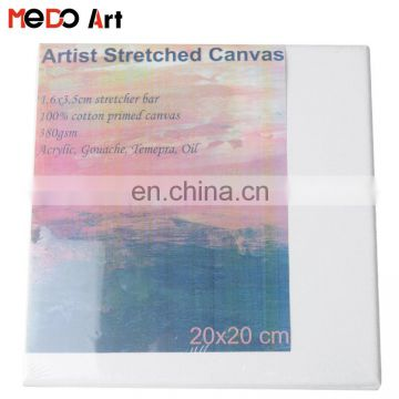 Rectangular 20x20cm 100% Cotton Oil Painting Stretched Canvas