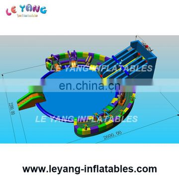 2017 new design Giant inflatable water park with slide and pool used on land