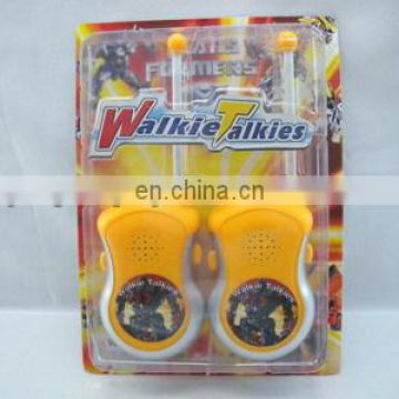 Kids plastic battery operated toy walkie talkie