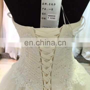 wholesale wedding dresses strapless sweep train made in usa