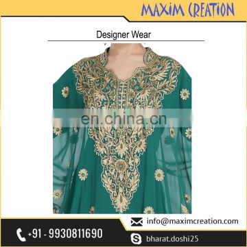 Top selling Party Wear Khaleeji Thobe With Unique Design By Maxim Creation