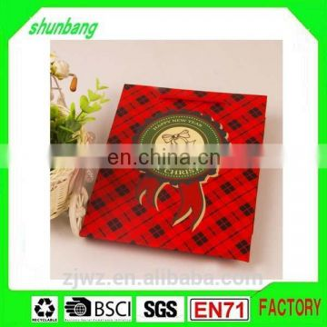 2015 hot sale red color print coated paper gift bag for festival