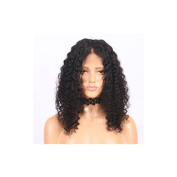 Straight Wave 20 Inches Brazilian Curly Human Hair For Black Women Full Head  Brown