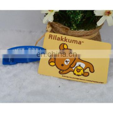 Rubber pvc luggage tag