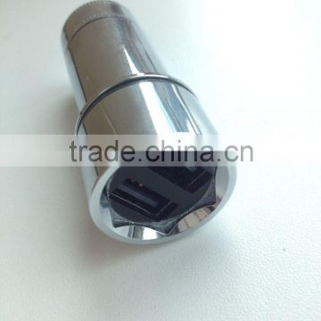 Stainless Steel Car Bullet Charger