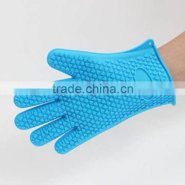 durable Silicone Heat Resistant Grilling BBQ Gloves
