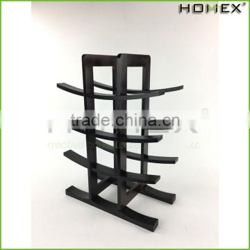 Bamboo tabletop wine rack wine shelves Homex BSCI/Factory