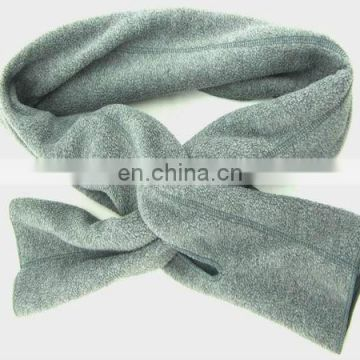 100% polyester polar fleece joint color scarf, fleece scarves