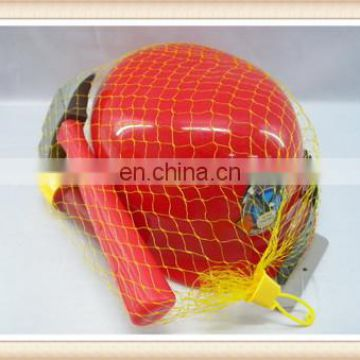 kids plastic fireman hat toy helmet with tools