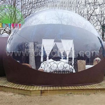 Glamping Inflatable Bubble Tent with Two Room and one Tunne