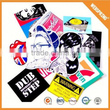 Fashion design lables custom sticker book