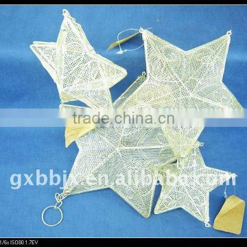 White wire star shape christmas homemade decorative crafts