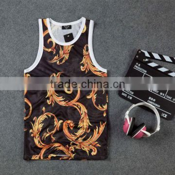 Promotional custom sublimation mens tank top for gym