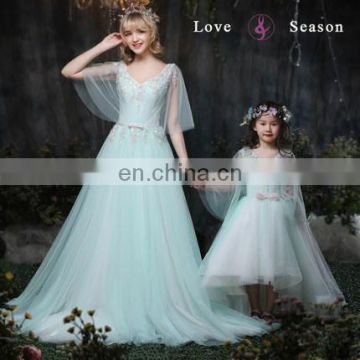 XXLF197 high low ball gowns girl flower fancy dress competition ...
