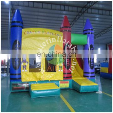 2016 Aier Inflatable Castle Inflatable bouncy for kids play and crayon castle jumping house
