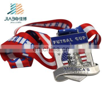 2018 years Factory price marathon sports die casting gold silver cheap metal medals