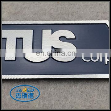 High Qualily Souvenirs Gifts and Crafts Custom Company Name Metal Embossed and Painting Aluminum Label