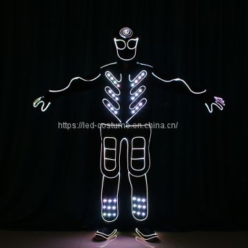 LED Luminous Glowing Costume Tron Dance Performance Show Event Costumes