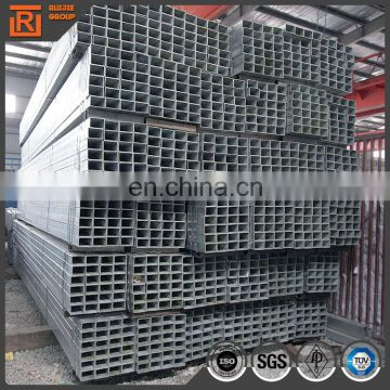 unit weight square tube tianjin mill gi square steel pipe