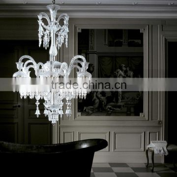 Luxury Baccarat Fine Cut Crystal Chandelier Lighting Clear Glass Pendant Hanging Light Fixture CZ3503/12