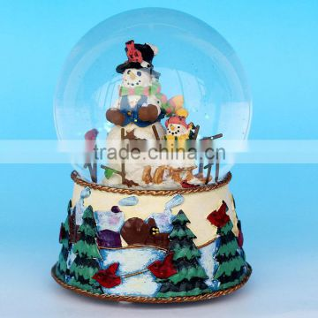 2017 Resin Craft Christmas Snowball With Snow
