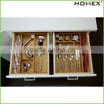 Bamboo Kitchen Tableware/Cutlery Tray Homex-BSCI Factory