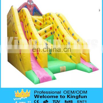 Giant inflatable spiderman slide for kids