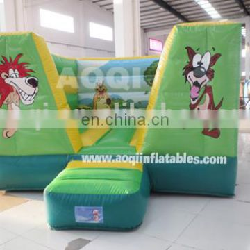 AOQI new style animal moonwalk green inflatable jumping bouncer commercial use inflatable bouncer for sale