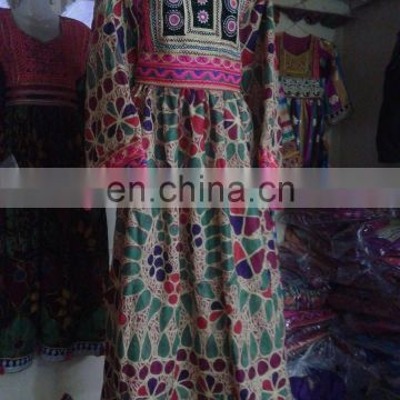 Kochi Afghan Afghan Tribal Dress with Kuchi Embroider
