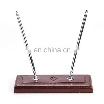 Wholesale Low MOQs High Class Leather Office Stationery Pen Set
