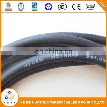direct factory price CE certificate 3 core rubber insulation power cord cable h07rn-f cable