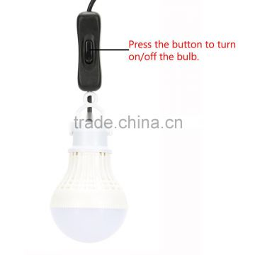 Rechargeable White LED Solar Panel Powered Bulb lamp 5LEDs 100LM Shed Barn Light Door Entrance Balcony Use Illuminating Fitures