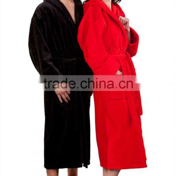 Wholesale Warm Hooded Terry Womens and Mens Bathrobe