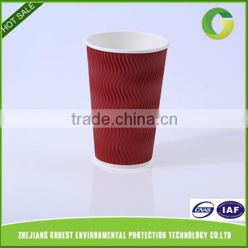 Gobest Durable Using Low Price Ripple Wall Import Paper Cups From China