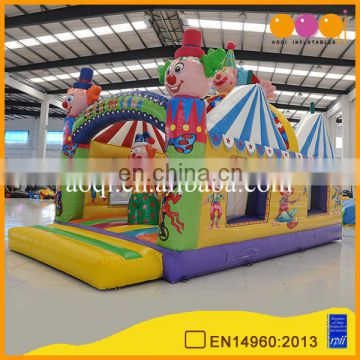multiplay inflatable bounce house,clown inflatable combos for business