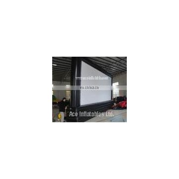 Outdoor advertising Inflatable movie screen for events
