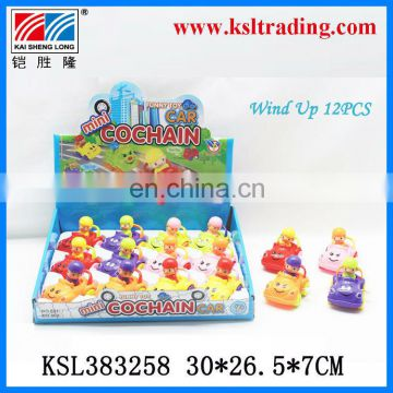 plastic toy wind up car for kids with doll