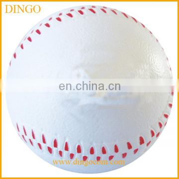 cheap promotional pu baseball shaped stress ball