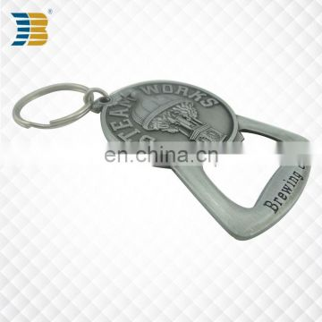 Cheap custom antique castle metal bottle opener with embossment