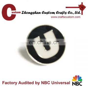 2015 hot sale custom metal letter lapel pin
