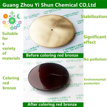 Brass coloring red bronze agents Chemical coloring agent Brass coloring agent