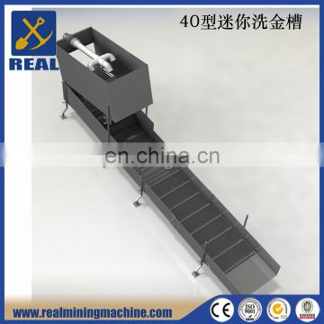 Gold Washing Machine Gold Sluice Box with rubber Mat in Gold Washing Plant