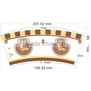 Custom-made high quality 1 wall pe coated paper for cup fans