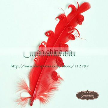 Nagorie Curled Goose Feather DIY Hair Accessories QueenBaby