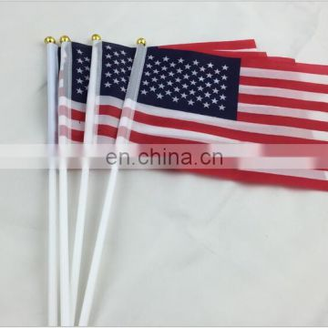 USA Flag hand wave American flag Family/Office Decoration/Activity/parade/Festival/brazil world cup flag