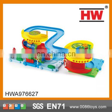 Colorful battery operated building track railway set