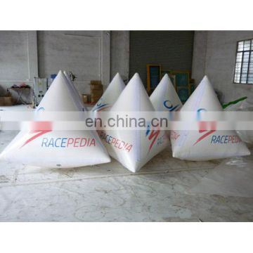 2015 Custom floating triangle buoys white colour with digital printing