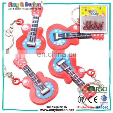 Hot selling musical instrument plastic mini guitar keychain