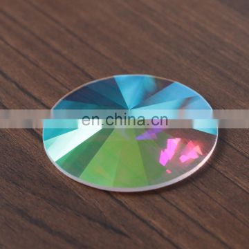 Flat back decorative large size rivoli crystal stones for jewelry